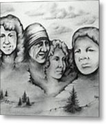 Women Who Rock Metal Print by Catherine Howley