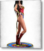 Wonder Woman V1 Metal Print by Frederico Borges