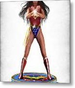 Wonder Woman V2 Metal Print by Frederico Borges
