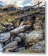 Wooden Bridge Metal Print by Adrian Evans