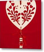 Wooden Heart Metal Print by Anne Gilbert