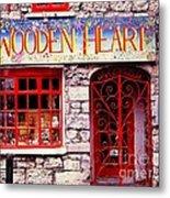 Wooden Heart Metal Print by Ranjini Kandasamy