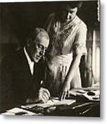 Woodrow And Edith Wilson Metal Print by Georgia Fowler