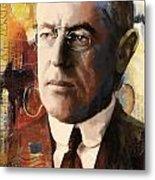 Woodrow Wilson Metal Print by Corporate Art Task Force