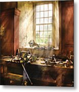 Woodworker - Many Old Tools Metal Print by Mike Savad