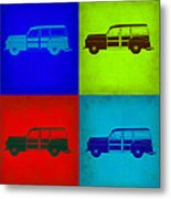 Woody Wagon Pop Art 1 Metal Print by Naxart Studio