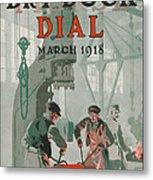 Workers At Shipyard Metal Print by Edward Hopper