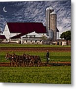 Working The Fields Metal Print by Susan Candelario