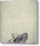World War I Tank In Trench Warfare Metal Print by Edward Fielding
