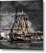 World's Oldest Commissioned Warship Afloat - Uss Constitution Metal Print by Ludmila Nayvelt