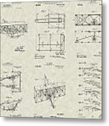 Wright Brothers Aircraft Patent Collection Metal Print by PatentsAsArt