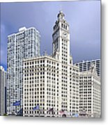 Wrigley Building Chicago Metal Print by Christine Till