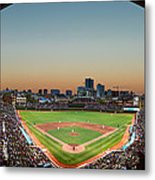 Wrigley Field Night Game Chicago Metal Print by Steve Gadomski