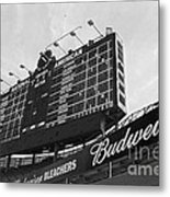 Wrigley Scoreboard Sans Color Metal Print by David Bearden