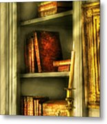 Writer - In The Library  Metal Print by Mike Savad