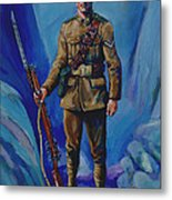 Ww 1 Soldier Metal Print by Derrick Higgins