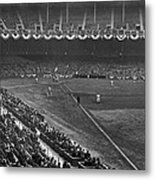 Yankee Stadium Game Metal Print by Underwood Archives