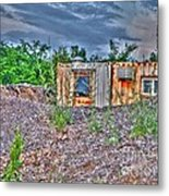 Yard Office Shack Metal Print by MJ Olsen