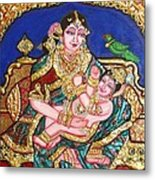 Yashoda Holding Gopala Metal Print by Jayashree