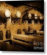 Ye Old Wine Cellar In Tuscany Metal Print by John Malone