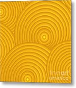Yellow Abstract Metal Print by Frank Tschakert
