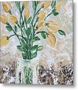 Yellow Bouquet Metal Print by Molly Roberts