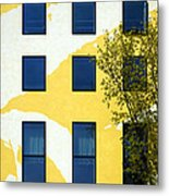 Yellow Facade In Berlin Metal Print by RicardMN Photography