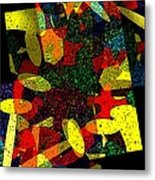 Yellow Geometric Art Metal Print by Mario Perez