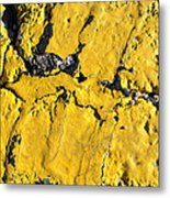 Yellow Line Abstract Metal Print by Luke Moore