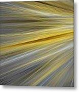 Yellow Metal Print by Sharon Lisa Clarke
