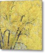 Yellow Trees Metal Print by Ann Powell