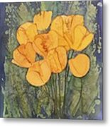 Yellow Tulips Metal Print by Carolyn Doe