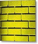 Yellow Wall Metal Print by Semmick Photo