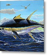 Yellowfin Crash Off0081 Metal Print by Carey Chen