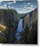 Yellowstone River Lower Falls Metal Print by Michael J Bauer