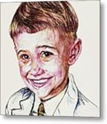 Young Boy Metal Print by PainterArtistFINs Husband MAESTRO