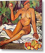 Young Half Caste Woman Metal Print by Marie Clementine Valadon