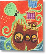 You've Been Pirated Metal Print by Kate Cosgrove