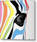 Zebra 1 Metal Print by Mark Ashkenazi