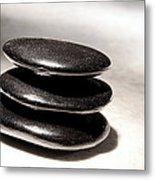 Zen Stones Metal Print by Olivier Le Queinec