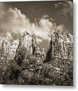 Zion Court Of The Patriarchs In Sepia Metal Print by Tammy Wetzel