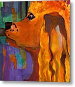 Zippy Dog Art Metal Print by Blenda Studio