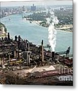 Zug Island Industrial Area Of Detroit Metal Print by Bill Cobb