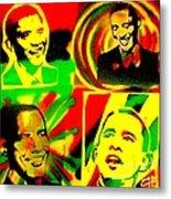 4 Rasta Obama Metal Print by Tony B Conscious