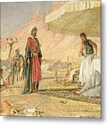 A Frank Encampment In The Desert Of Mount Sinai Metal Print by John Frederick Lewis