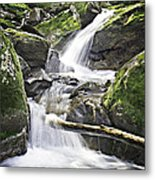 0804-0035 Cascade Above Triple Falls Metal Print by Randy Forrester