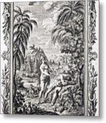 1731 Scheuchzer Creation Adam & Eve Metal Print by Paul D Stewart