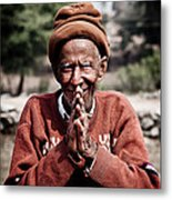 A Man Of The Land Metal Print by Steven Gray