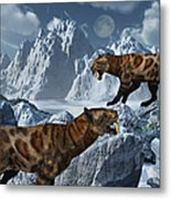 A Pair Of Sabre-toothed Tigers Metal Print by Mark Stevenson