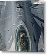 A U.s. Air Force F-16c Fighting Falcon Metal Print by Giovanni Colla